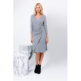 GREY VISCOSE LISA DRESS