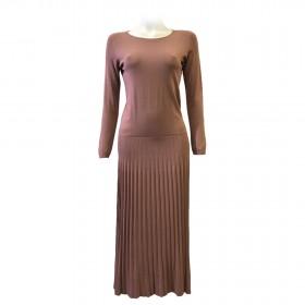 Pleated Viscose Dress